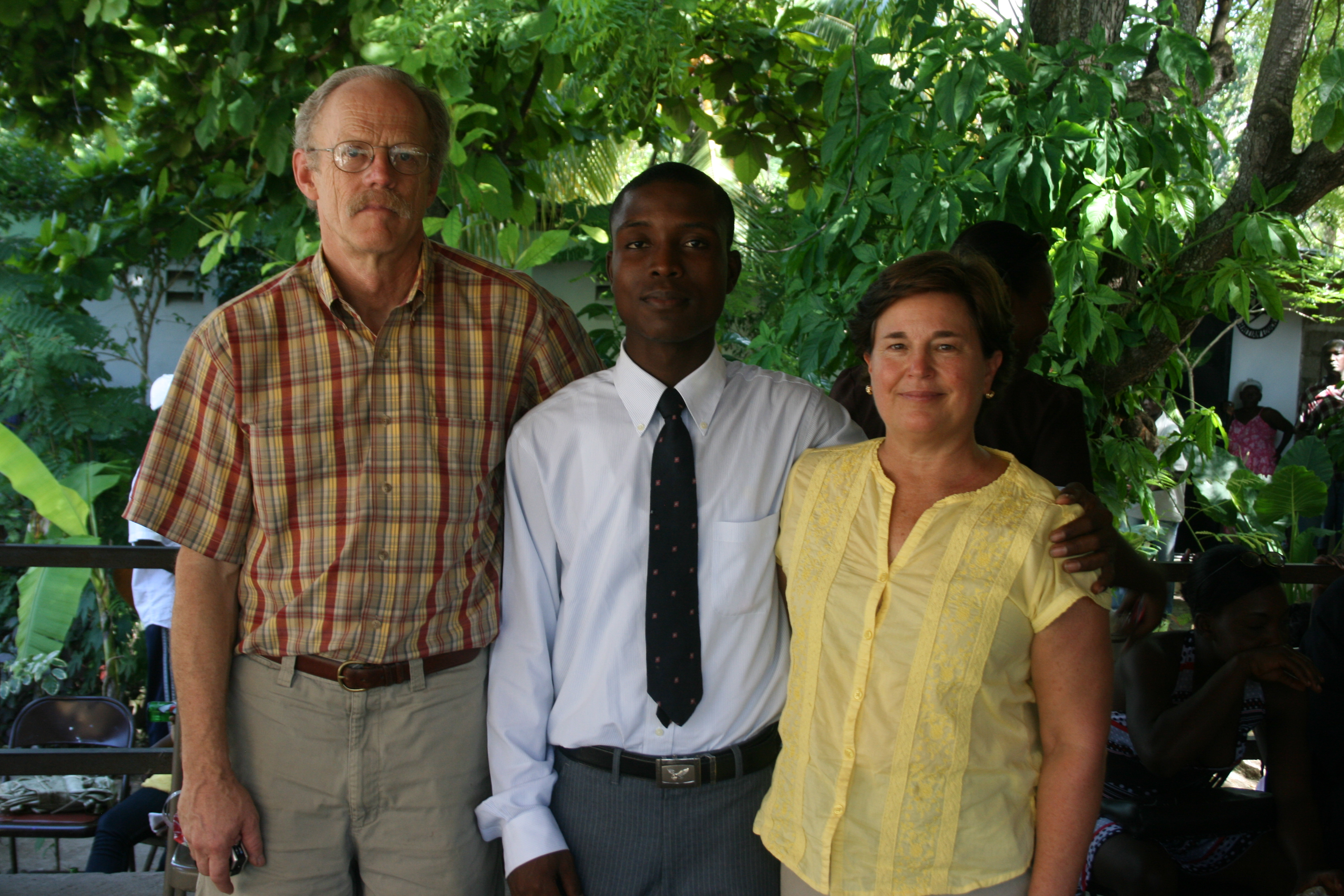 Carl Joseph with Ted and Becky Crosby